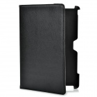 360 Degree Rotating Swivel Protective PU Leather Case for ASUS Transformer Prime TF201 - Black