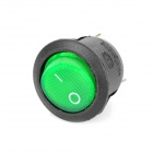 3-Pin Round Rocker Switches with Green Light Indicator (5-Piece Pack)