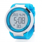 Round LED Touchscreen Wrist Watch with Blue Backlight - Blue (1 x CR2025)