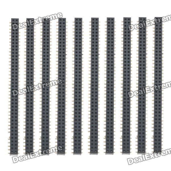 DIY Parts 2 x 40-Pin Female Headers (10-Piece Pack) double row 10 pin 2 54mm pitch pin headers 10 piece pack