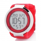 Round LED Touchscreen Wrist Watch with Blue Backlight - Red (1 x CR2025)