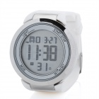 Round LED Touchscreen Wrist Watch with Blue Backlight - White (1 x CR2025)