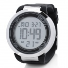 Round LED Touchscreen Wrist Watch with Blue Backlight - Black (1 x CR2025)