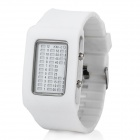 Cool 31-LED Wrist Watch with Date / Week Display - White (2 x CR2016)