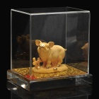 Decorative Chinese Zodiac Golden Statue Figurine - Pig