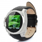 "K650 GSM Wrist Watch Phone w/ 1.5"" Resistive, Quad-Band and Single-SIM - Silver + Black"