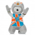 2012 London Summer Olympics Mascot Wenlock Short Plush Doll Toy - Grey