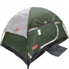 Dome 2 Person Hiking Backpacking Tent - Green