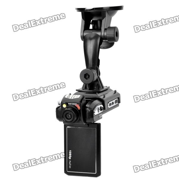 5.0MP CMOS 1080P Wide Angle Car DVR Camcorder w/ 4X Digital Zoom / HDMI / AV / SD (2.5 TFT LCD) 5 0mp digital video camcorder w 4x digital zoom motion detection hdmi sd slot 2 5 tft lcd