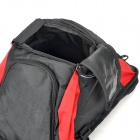 Outdoor Rainproof 3-in-1 Multifunction Bike Luggage Carrying Bag - Black + Red (60L)