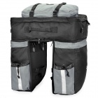 Outdoor Rainproof Multifunction Bike Luggage Carrying Bag - Black + Grey (67L)