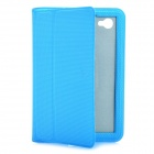 Ultra-Thin Protective PU Leather Case for Samsung P6800 / P6810 - Blue