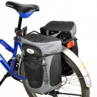Waterproof Cycling Bike Bicycle Saddle Bag - Black + Grey (Pair)
