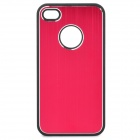 Protective Plastic Case for Iphone 4 / 4S - Deep Pink + Black