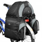 Outdoor Rainproof 3-in-1 Multifunction Bike Luggage Carrying Bag - Black + Grey (60L)