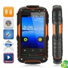 "HW-T18 Ultra-Rugged Waterproof Android 4.0 WCDMA Cellphone w/3.5"" Capacitive, GPS and Wi-Fi - Orange"