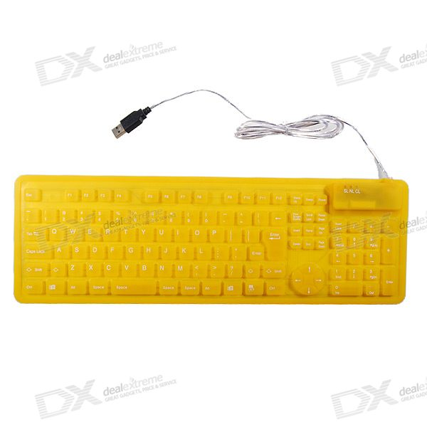 Foldable and Undestructable USB Flexible Keyboard (109-Key)