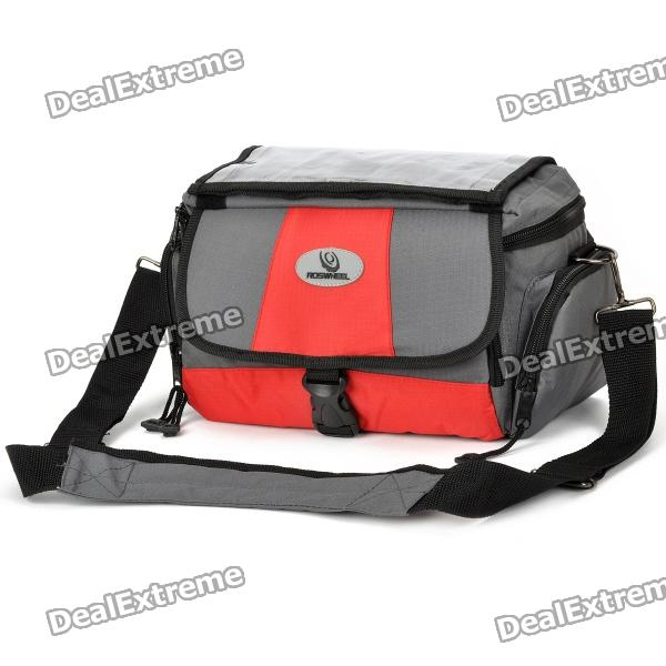 Outdoor Waterproof Bike Bicycle Front Camera Carrying Bag - Grey + Red gub 3342 multifunction waterproof bicycle bike tail bag grey black