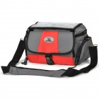 Outdoor Waterproof Bike Bicycle Front Camera Carrying Bag - Grey + Red