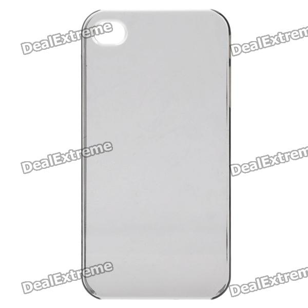 Ultra-Thin Protective Plastic Back Case for Iphone 4 / 4S - Transparent Grey