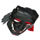 Cool Skull Pirate Mask for Halloween Cosplay Costume Party - Golden + Red