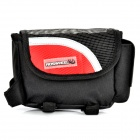 Outdoor Bike Bicycle Upper Tube Bag - Red + Black