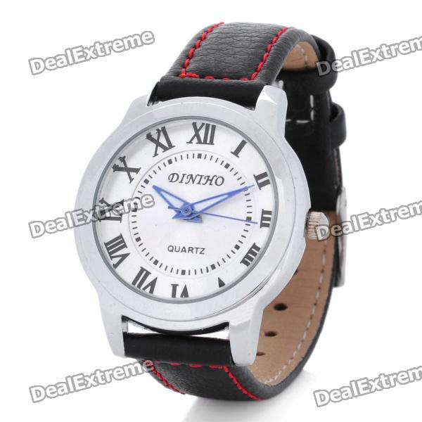 Fashion Quartz Wrist Watch for Women - Black + Silver (1 x LR626)