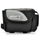 Outdoor Bike Bicycle Upper Tube Bag - Silver + Black