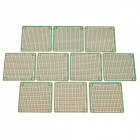 Prototype Universal Printed Circuit Board Breadboards - Green + Brown (10-Piece Pack)