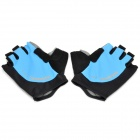 Outdoor Cycling Riding Half Finger Gloves with Protective Pad - Blue (Pair/Size-XL)