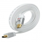 AUS Stop HDMI 1.4a Male to Male Flat Connection Cable - White (200cm)