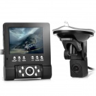 2.0mp cmos wide angle car dvr camcorder w/ external lens / tf / av-in / av-out - black (2.8