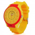 C5 GSM Wrist Watch Phone for Kids w/ Quad-Band, Single-SIM, SOS and Bluetooth - Yellow + Red