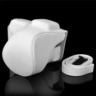 Protective PU Leather Case for Sony NEX-5N - White