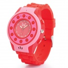 C5 GSM-Armbanduhr-Telefon für Kinder w / Quad-Band, Single-SIM, SOS und Bluetooth - Pink + Rot