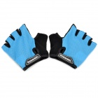 Outdoor Cycling Riding Half Finger Gloves with Protective Pad - Blue + Black (Pair/Size-M)