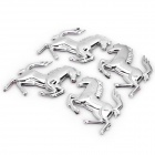 Cool Horse Style Decorative Sticker for Car - Silver (4 Pieces Pack)