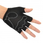 Outdoor Cycling Riding Half Finger Gloves with Protective Pad - Black (Pair/Size-M)