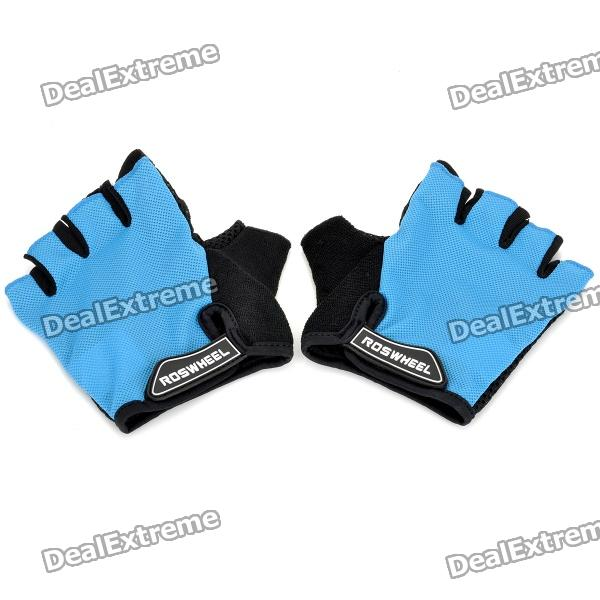 Outdoor Cycling Riding Half Finger Gloves with Protective Pad - Blue + Black (Pair/Size-L) носки adidas носки per la ankle 3p