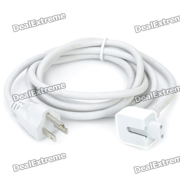 AC Power Adapter Extension Cable for Apple MacBook - White (US Plug) 10w power adapter extension cable for macbook ipad us plug 160cm length