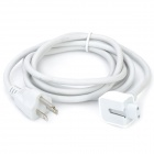 AC Power Adapter Extension Cable for Apple MacBook - White (US Plug)
