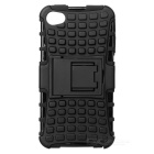 2-in-1 Protective Back Case for Iphone 4 / 4S - Black