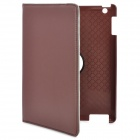 360 Degree Rotating Swivel Protective PU Leather Case for Ipad 2 / The New Ipad - Coffee