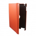 360 Degree Rotating Swivel Protective PU Leather Case for Ipad 2 / The New Ipad - Orange