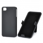 Protective Plastic Back Case w/ Rotating Swivel Clip Holder for Iphone 4 / 4S - Black