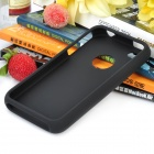 Protective Plastic Case for Iphone 4 / 4S - Silver + Black