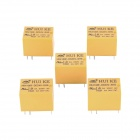 HK4100F-DC24V-SHG 6-Pin Power Relay - Yellow (5-Piece)