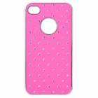 Protective CrystalPlastic Back Case for iPhone 4 / 4S - Deep Pink