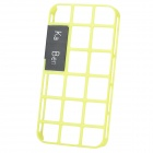 Hollow Out Style Decorative Case with Screen Protector for Iphone 4 / 4S - Yellow