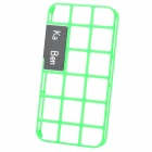 Hollow Out Style Decorative Case with Screen Protector for Iphone 4 / 4S - Green